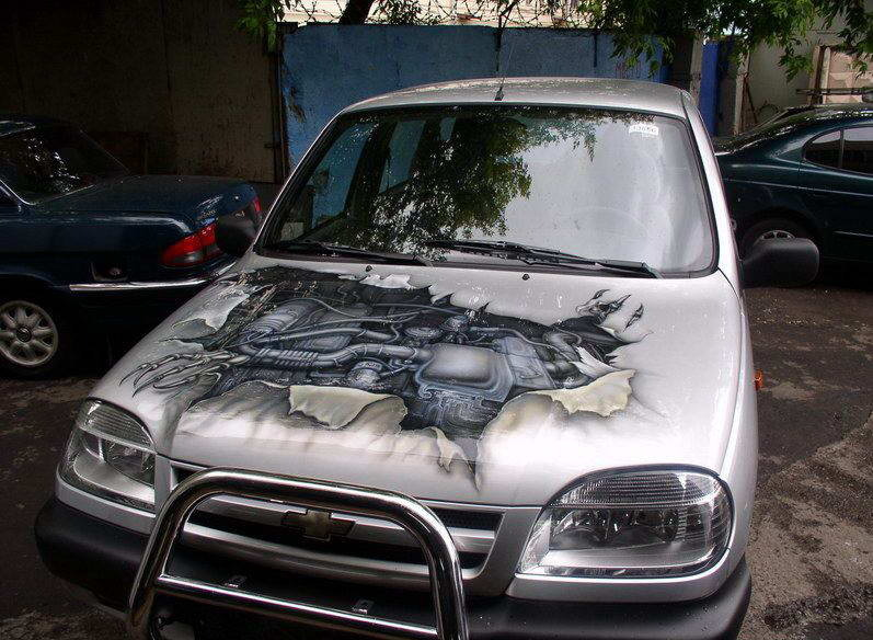 awesome car paint jobs automotive spray paint. Black Bedroom Furniture Sets. Home Design Ideas